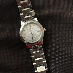 Burberry Swiss analog silver stainless steel watch